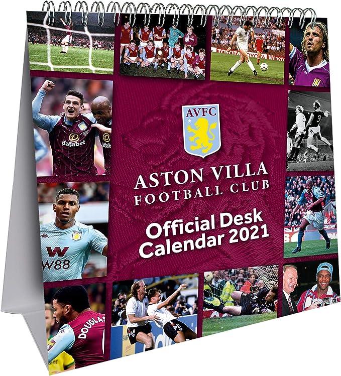 Official Aston Villa 2021 Soccer Calendar A3 Calendars & Planners ...
