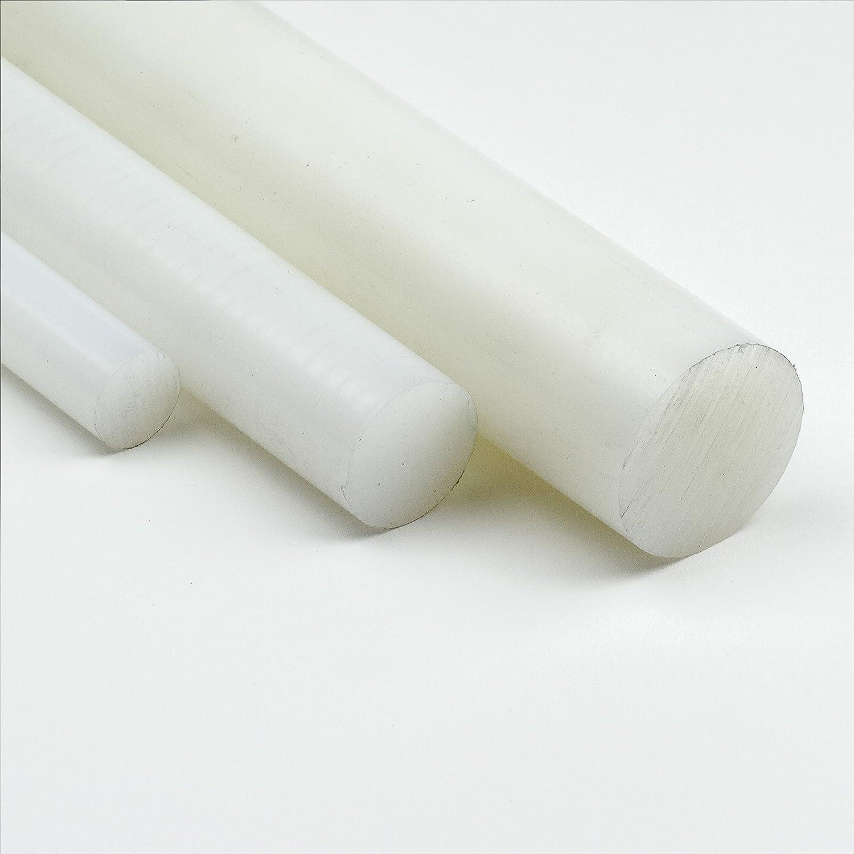 Polyamid PA6 Rundstab natur /Ø 8mm L: 800mm Kunststoffstab Zuschnitt 80cm