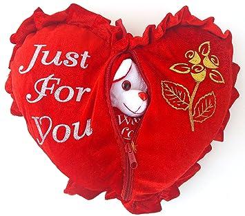 romantic valentine gift heart love teddy pillow cushion for valentine gifts for boyfriend girlfriend