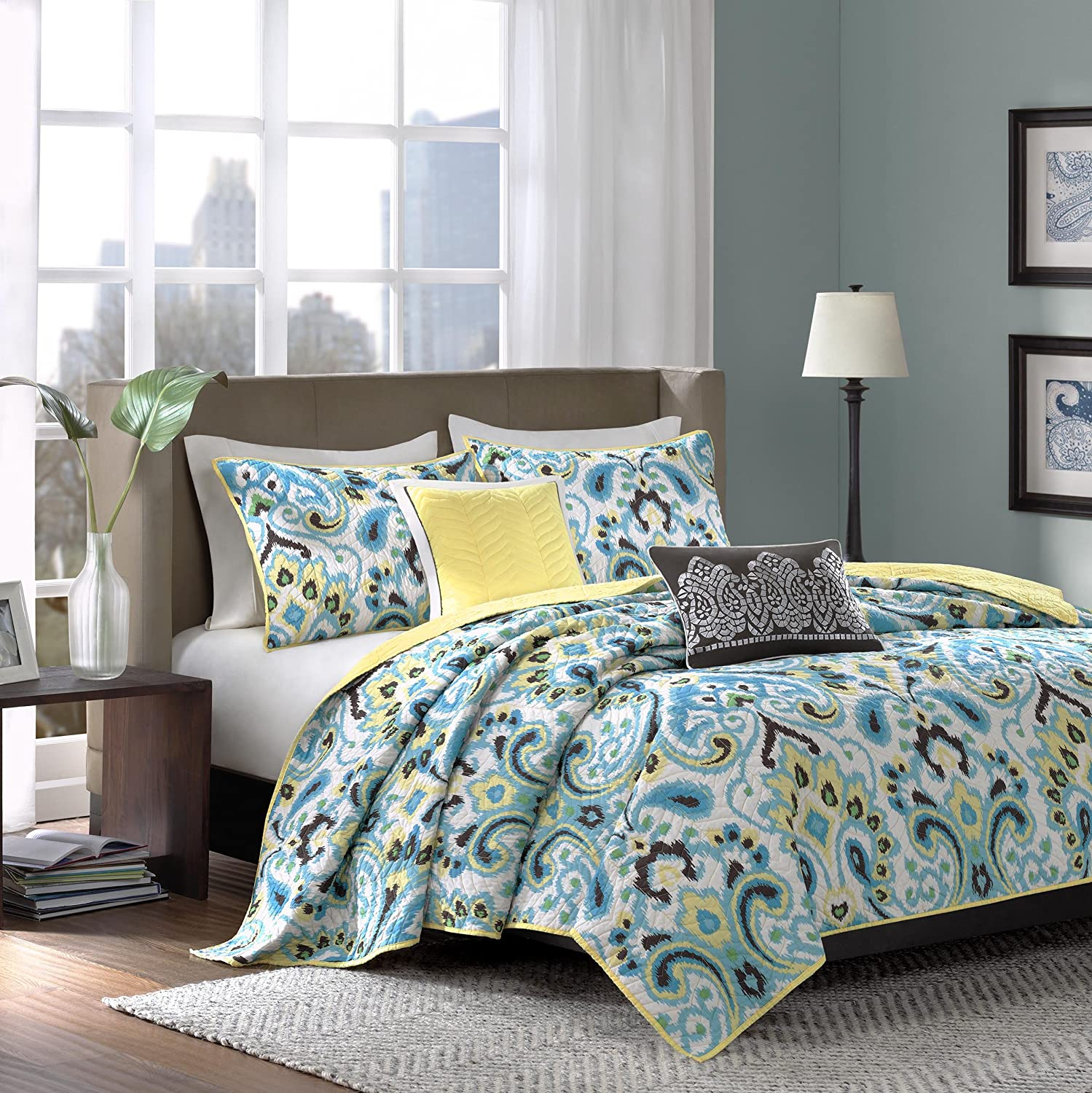 comforter blue hayneedle barrett cfm by piece madison home jla set king jacquard product park sets master