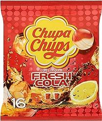 Chupa Chups Sachet de 16 Sucettes Fresh Cola 192 g - Lot de 8