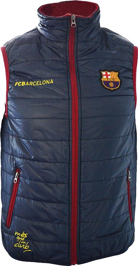 FC Barcelona - Chaleco de plumas sin mangas oficial del Barça para niño azul azul Talla