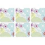Portmeirion Crazy Daisy Coasters, Set of 6