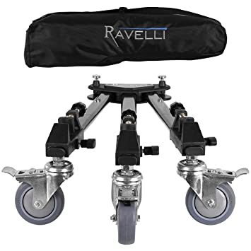 Ravelli ATD Dolly - Base de trípode profesional con ruedas para cámeras foto y video y bolsa de transporte: Amazon.es: Electrónica