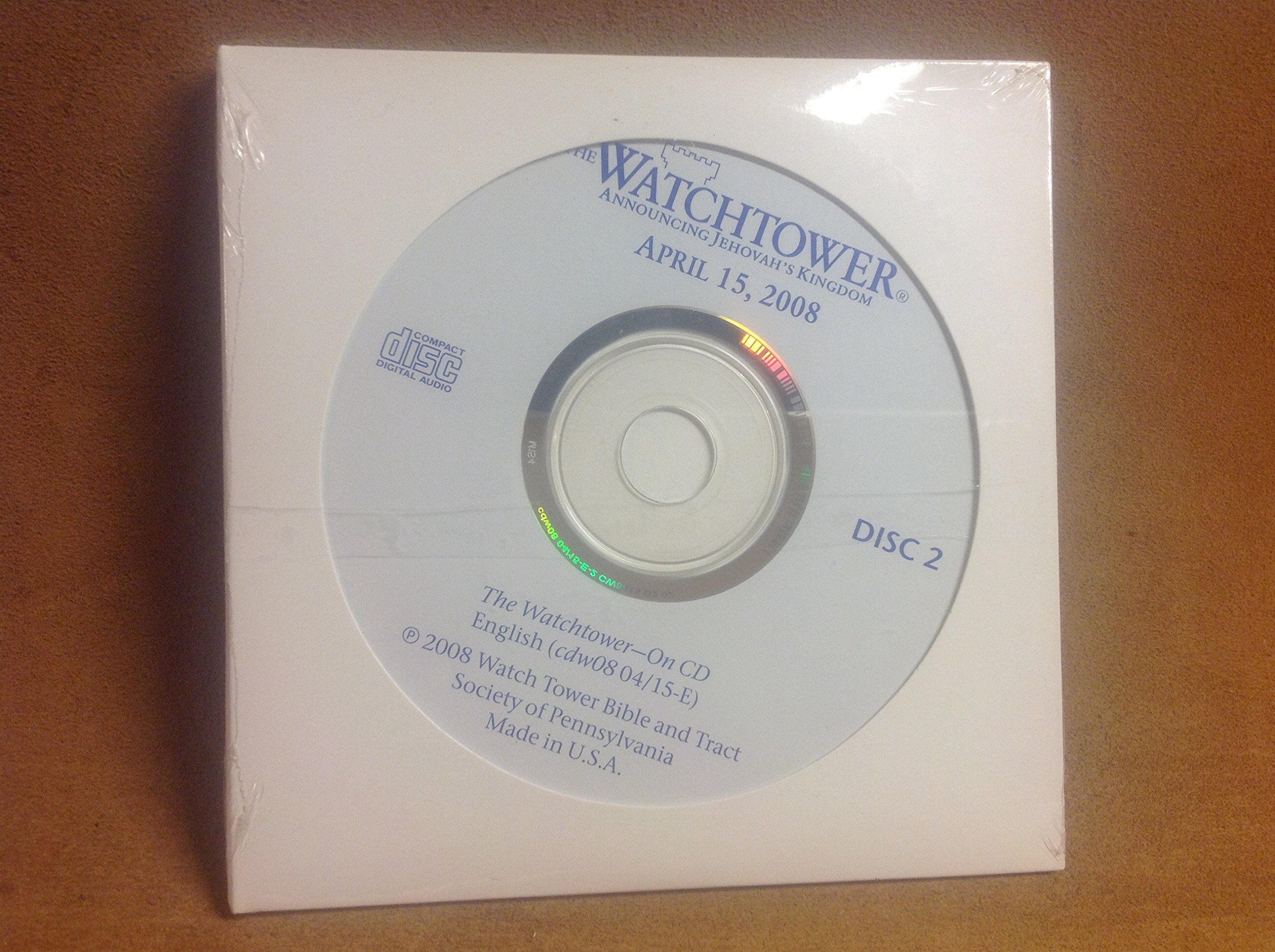 Download Watchtower ~ Announcing Jehovah's Kingdom ~ Audio CDs (Discs 1 and 2) ~ April 15, 2008 PDF
