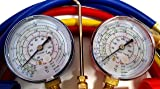 A/C Manifold Gauge And Hose Set With 3PC