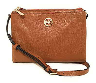 00bb0ebefc3f6 Amazon.com  Michael Kors Fulton Acorn Crossbody Bag Leather (35T6GFTC7L)   Jewelry