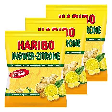 Haribo zenzero-limone, Gominolas de Fruta, Bonbon, 3 bolsas ...