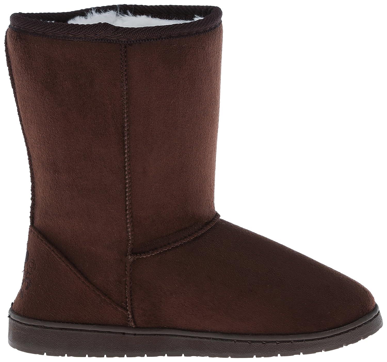 DAWGS Womens 9 Inch Faux Shearling Microfiber Vegan Winter Boots B001M5H6TK 6 B(M) US Chocolate