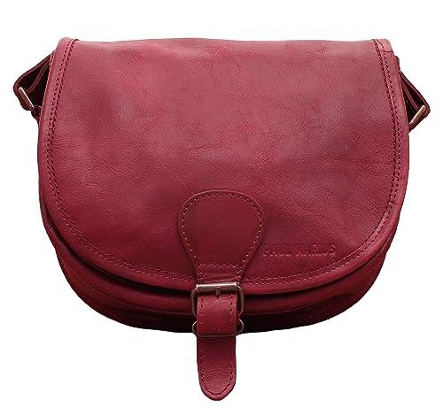LE BOHEMIEN Deep Red leather shoulder bag bohemian style adjustable strap  PAUL MARIUS  Amazon.co.uk  Shoes   Bags 59337654a38fc