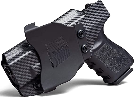 Concealment Express OWB Paddle KYDEX Holster (Carbon Fiber Black) - Outside Waistband - Adjustable Cant & Posi-Click Retention - 100% US Made