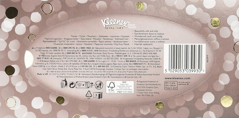 Kleenex Ultrasoft Caja de pañuelos, 80 unidades: Amazon.es: Amazon Pantry