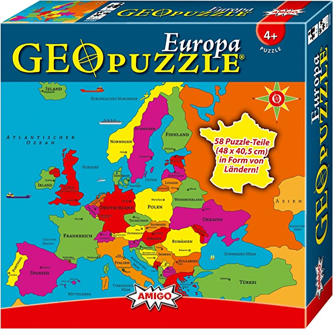 Geo Puzzle - Europa (versión alemana): Amazon.es: Juguetes y juegos