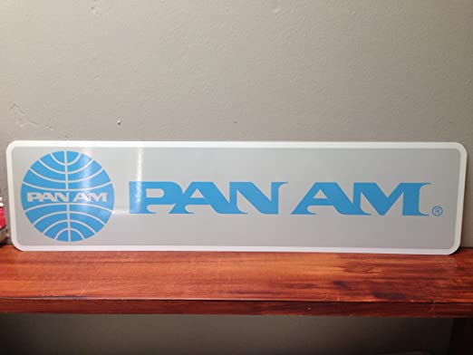 TIN SIGN Pan Am Airlines Retro Commercial Aviation Metal Sign Decor C622