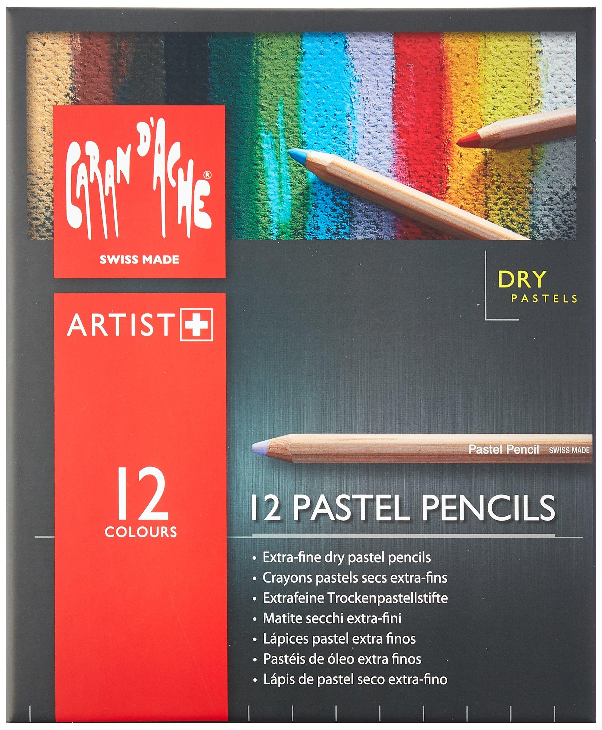 Caran D'ache Set of 12 Pastel Pencils (788.312) by Caran d'Ache