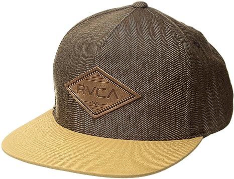 959cfbf8db759d Amazon.com: RVCA Men's Woods Snapback HAT, Dark Khaki, One Size ...