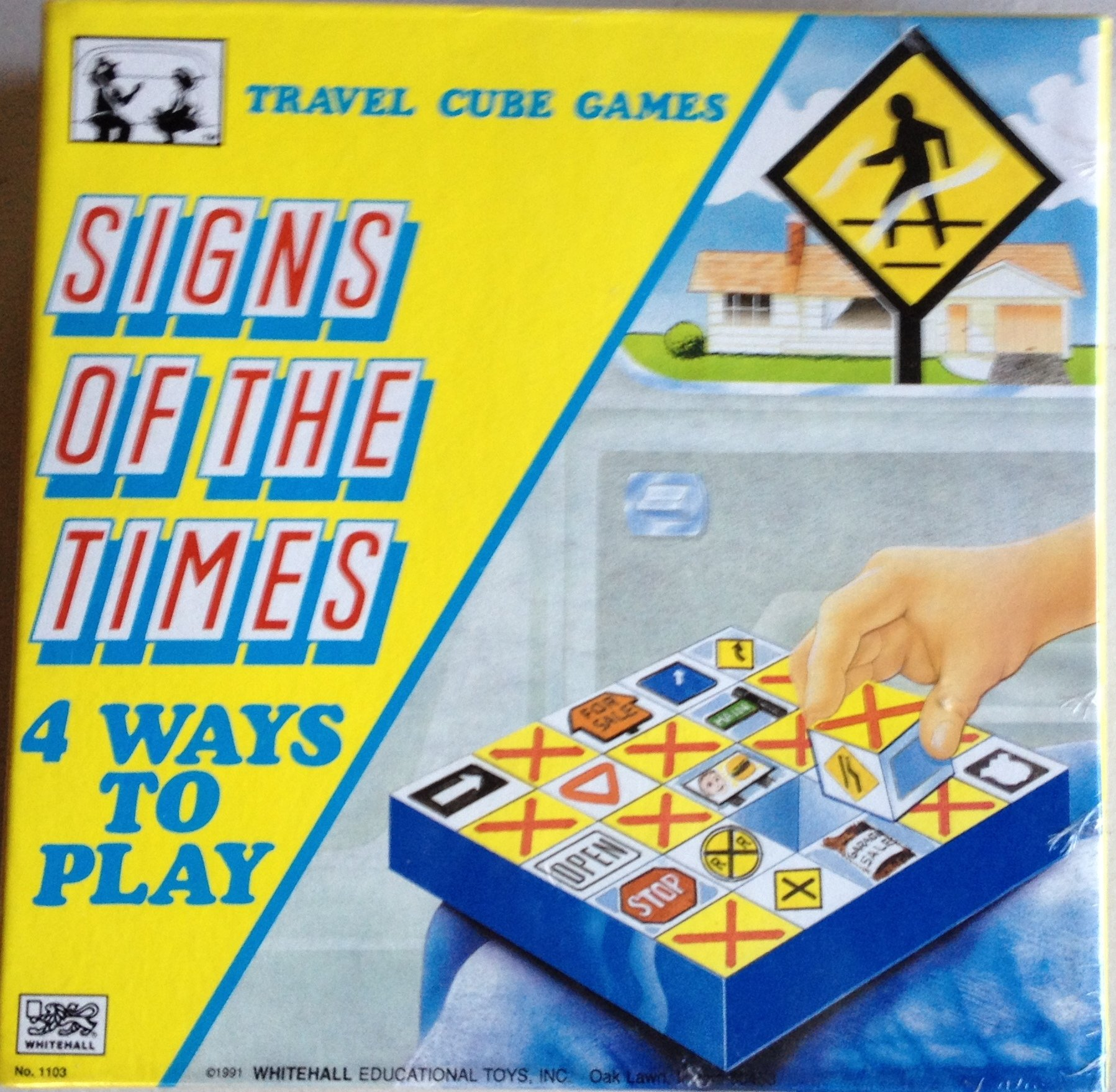 SIGNS OF THE TIMES-Travel Cube Games- Vintage 1991 by Whitehall Educational Toys Inc