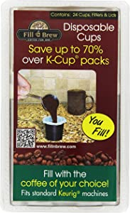 Fill 'n Brew Individual Disposable Coffee Pods for K-Cup Keurig Coffee Machines (24 cups), 1 pack