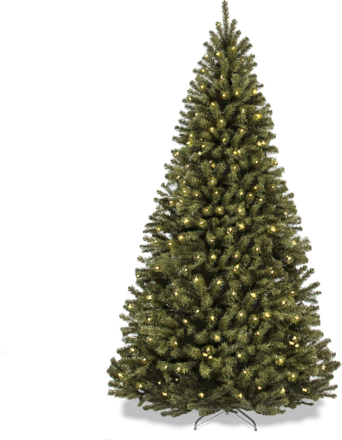 Best Choice Products 7.5ft Pre-Lit Spruce Hinged Artificial Christmas Tree