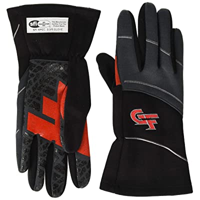 G-Force Men's G7 Racing Glove (Black, Large): Automotive