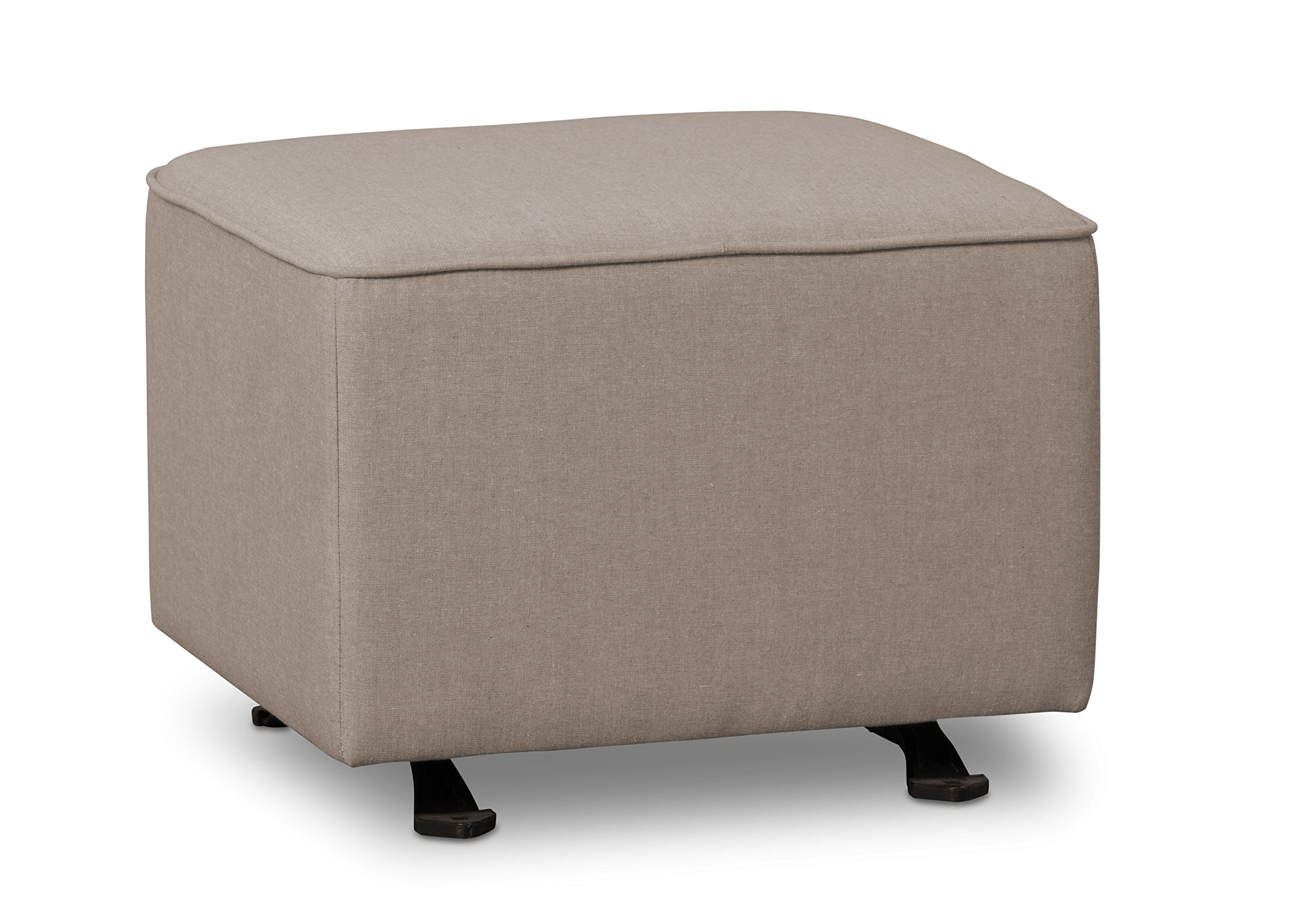 Delta Children Nursery Gliding Ottoman, Heather Grey
