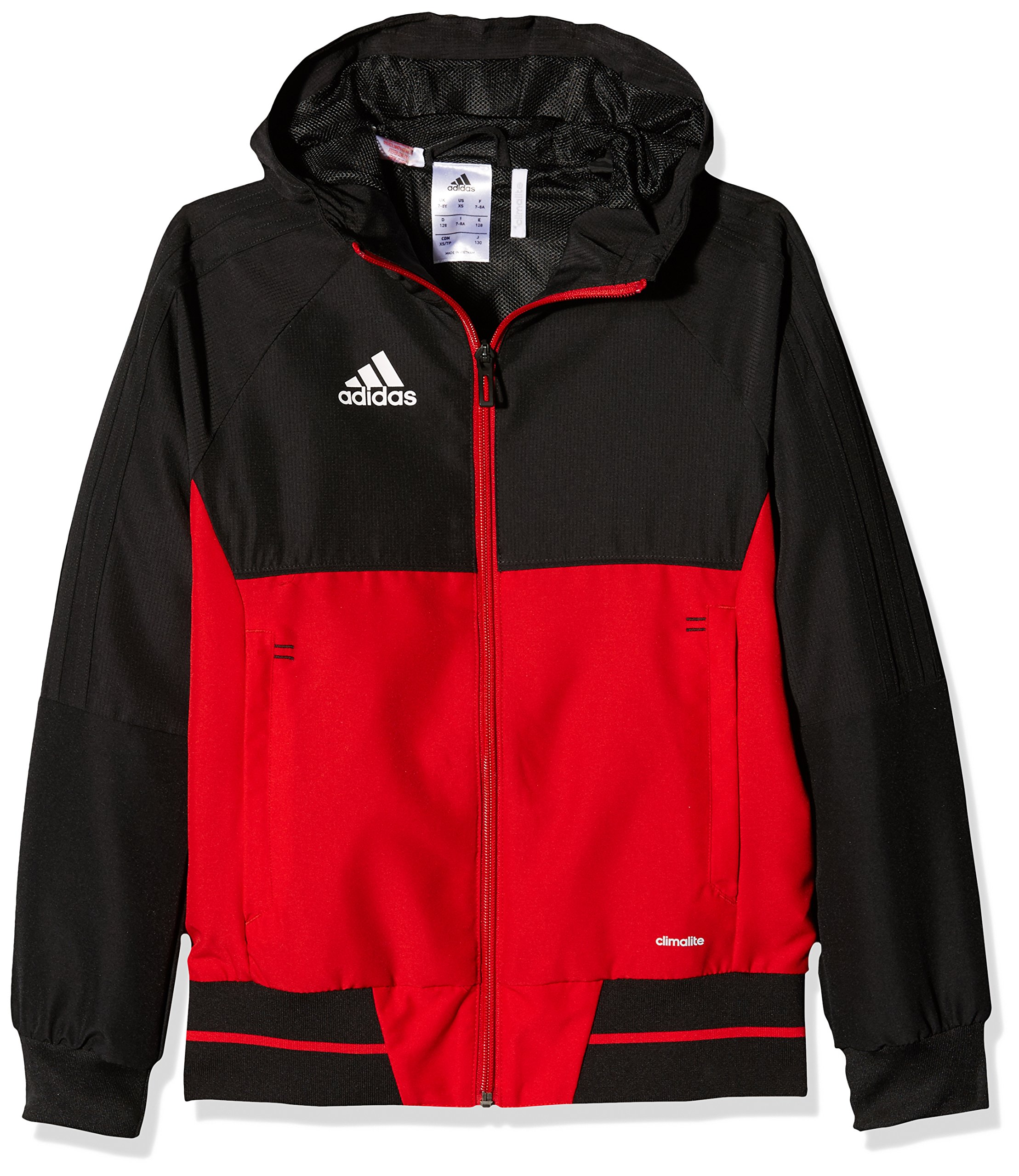 adidas Tiro 17 Plain Presentation Jacket - Youth - Black/Red - Age 13-14