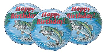 Amazoncom Happy Birthday Largemouth Bass Fishing Party Decoration