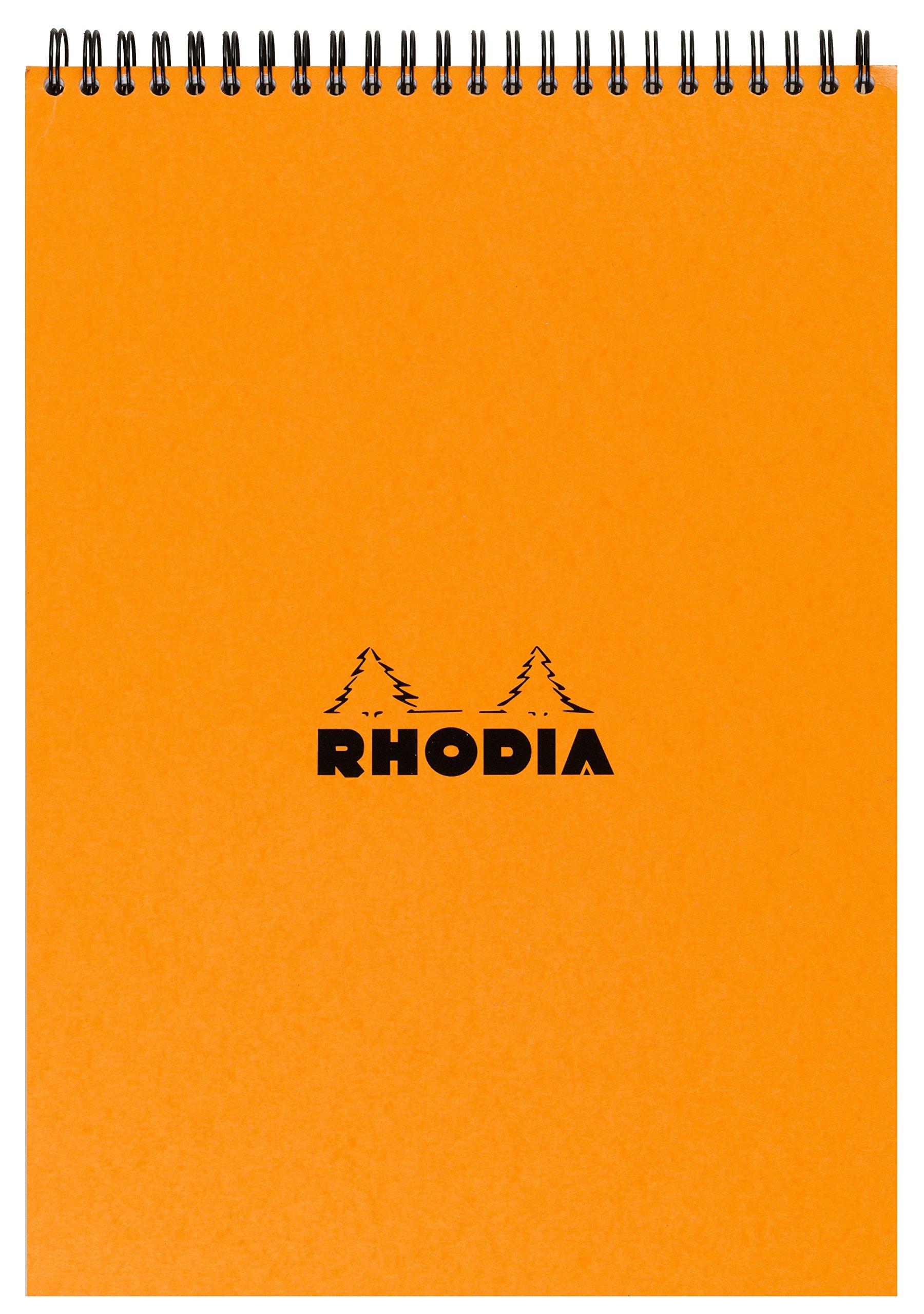 Rhodia Wirebound Pad - A4 (8.25 x 11.75 inches) - Grid, Orange