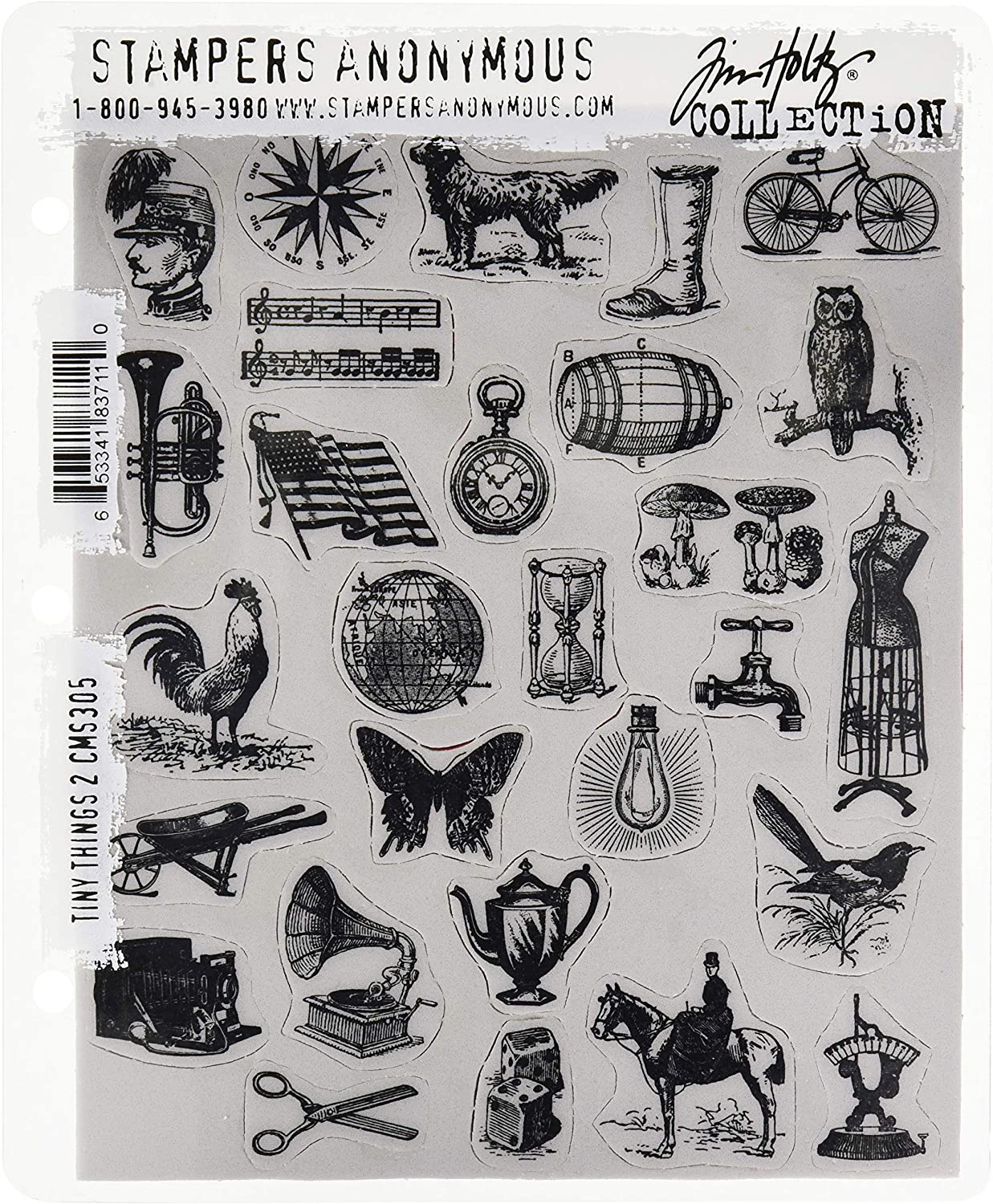 Stampers Anonymous Tim Holtz Cling Stamps 7X8.5-Slate /& Stone