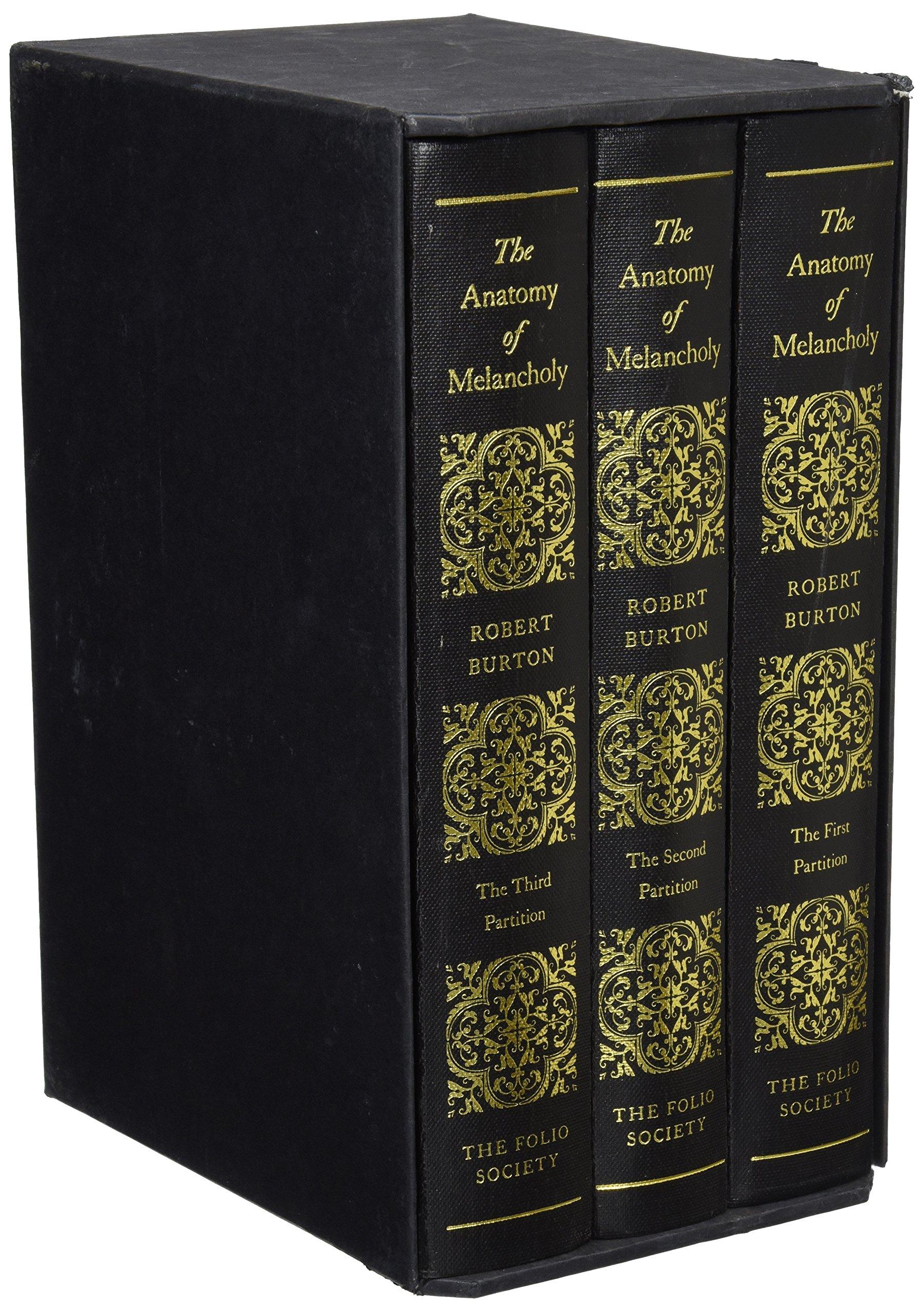 The Anatomy Of Melancholy Folio Society Box Set Of 3 Richard