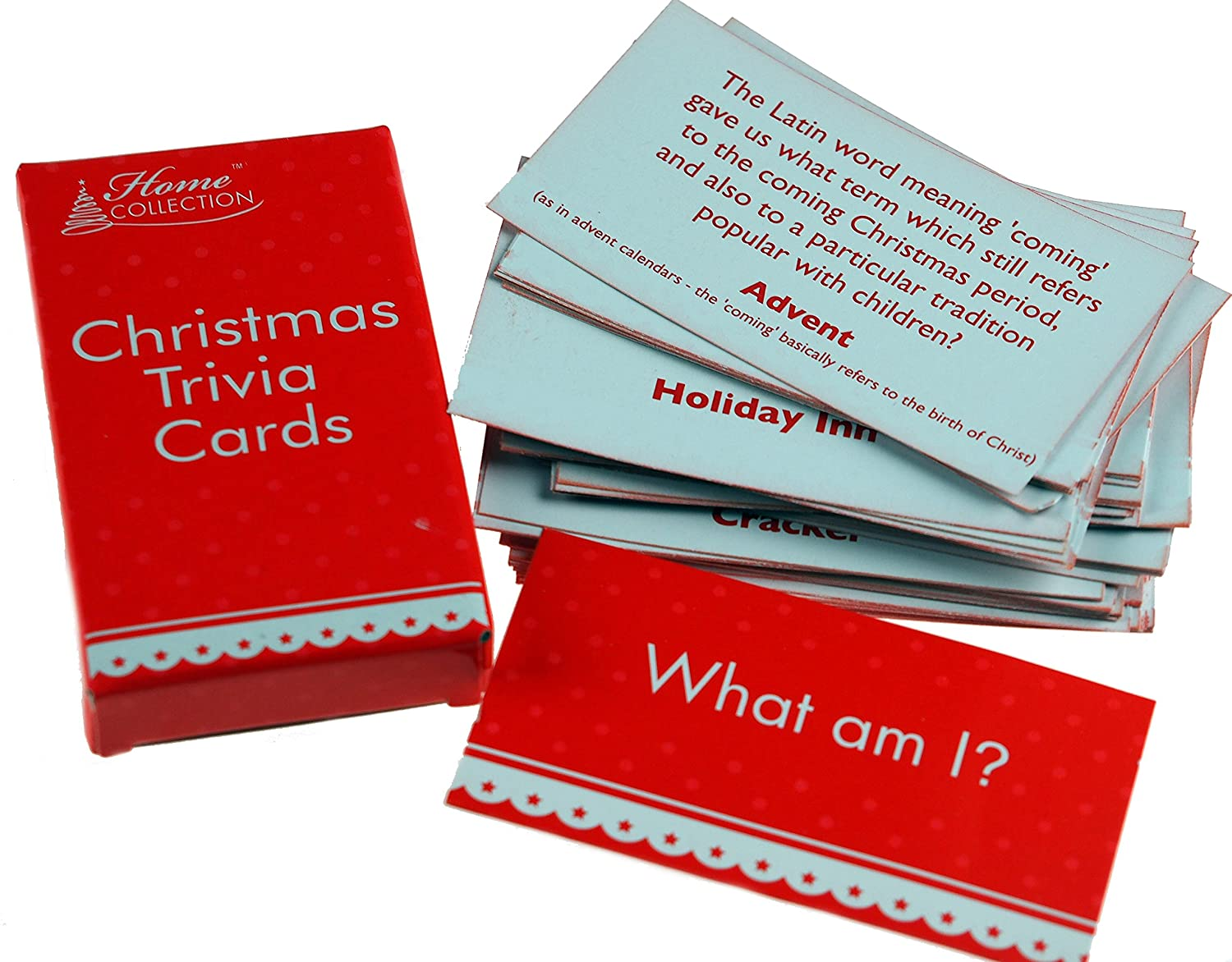 60 Pack Of Adults Christmas Trivia / What Am I Cards - Fun For ...