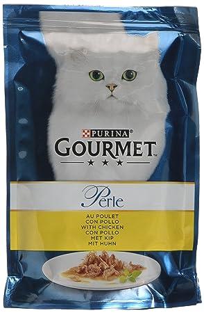 Gourmet gato, perlas filettini de salsa con pavo 85 g: Amazon.es: Productos para mascotas