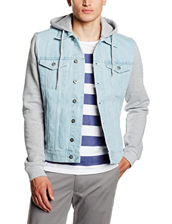 Urban Classics Herren Jacke Hooded Denim Fleece Jacket  Amazon.de ... a03e49a19e