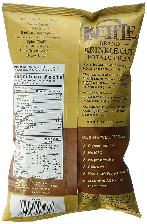 amazon com kettle brand krinkle cut potato chips sea salt 13