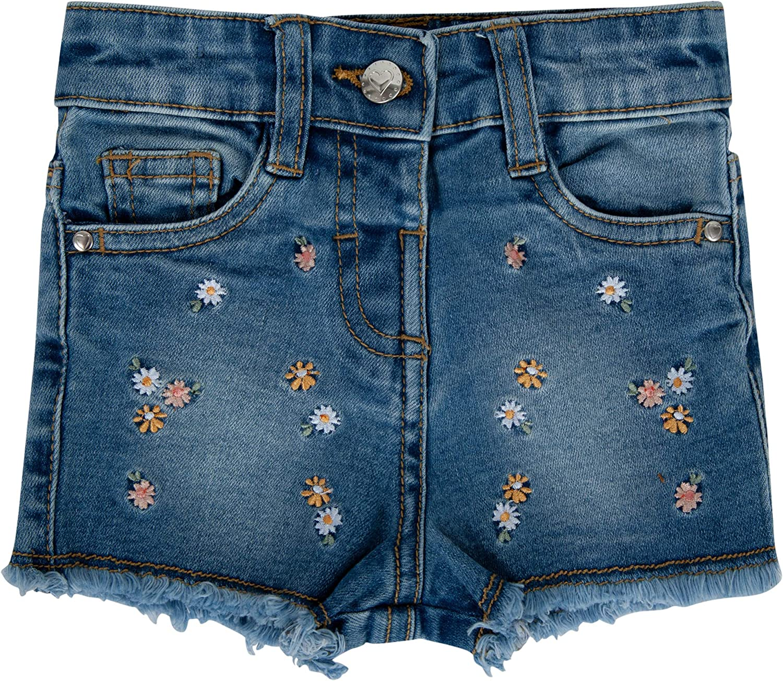 Hajotrawa Mens Washed Distressed Short Sleeve Casual Button Down Denim Shirts