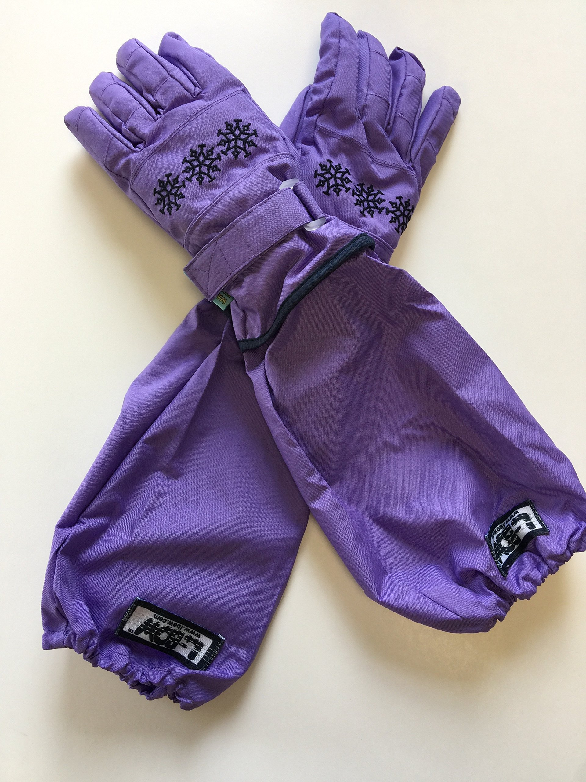 L-Bow Boy's Breathable Waterproof 3M Thinsulate Glove (X-Large 9 1/2-14 1/2, Purple)