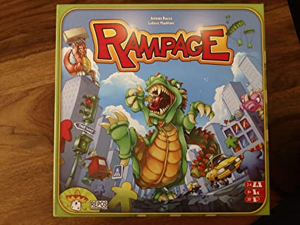 Amazon Com Brybelly Rampage Board Game Notavailable Toys Games