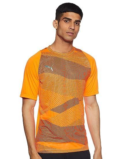 PUMA ftblNXT - Partes de Arriba de Ropa Deportiva para fútbol (Adulto, Masculino, Camisa, Naranja, S, SML)