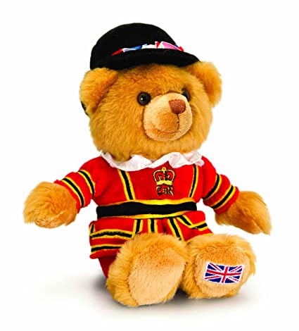 London Beefeater Bear - Souvenir Soft Toy, Keel Toys 15 cm Teddy - SL4146 [
