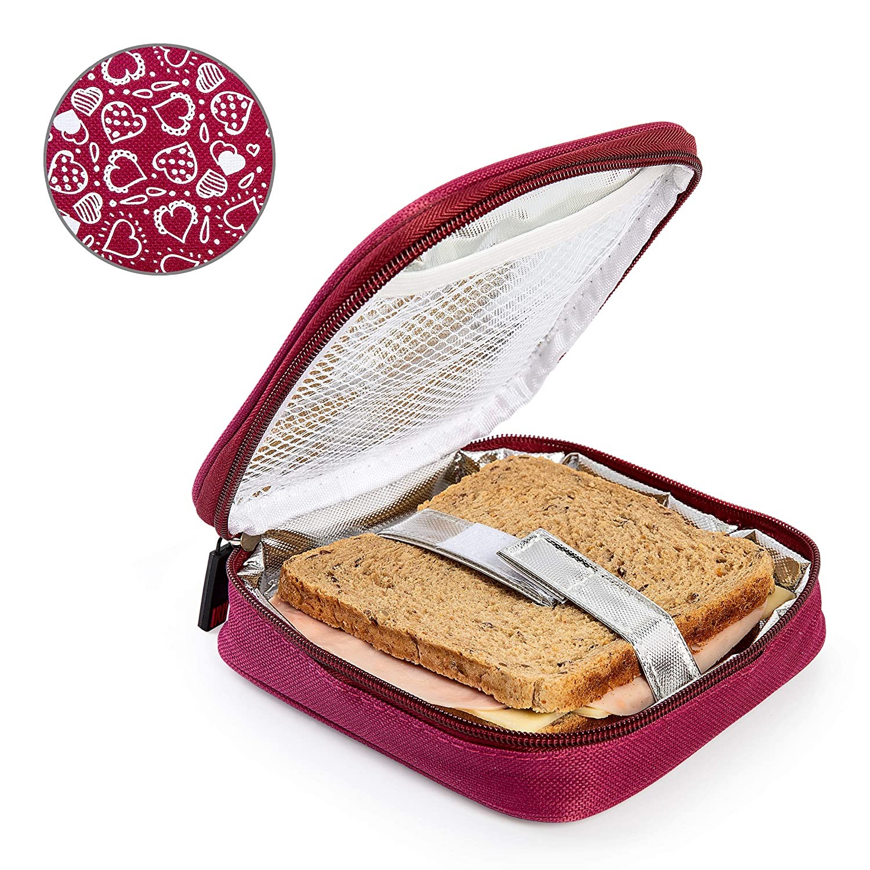 Colore Blu PracticDomus Porta Sandwich Termoisolati per Bambini Iris Barcelona Model Fun