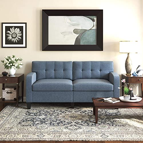Dorel Living Zakari, Blue Sofa