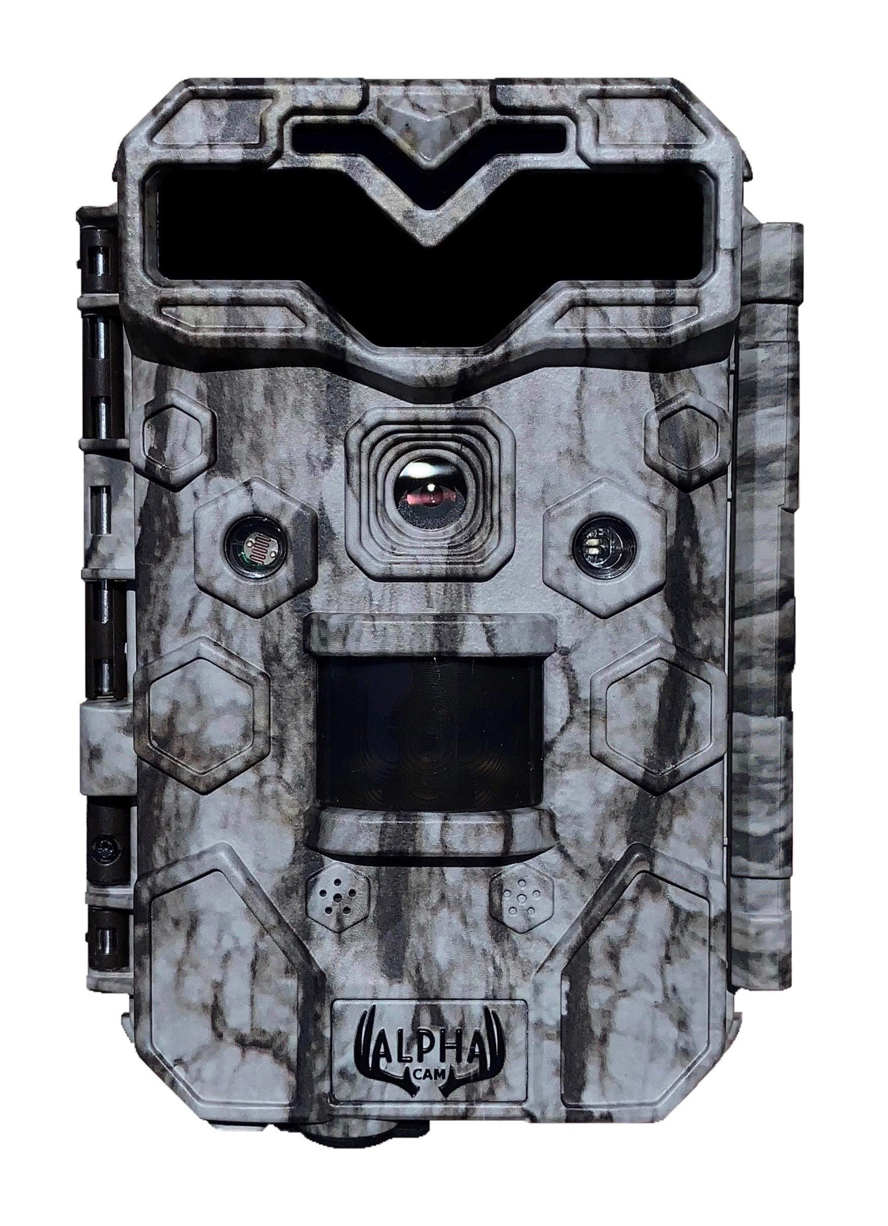 Alpha Cam Premium Hunting Trail Camera 30MP 1080p H.264 30fps IP67 Waterproof Scouting Cam with Ultra Fast Trigger Speed and Recovery Rate HD Long Range IR Night Vision 2.4″ LCD