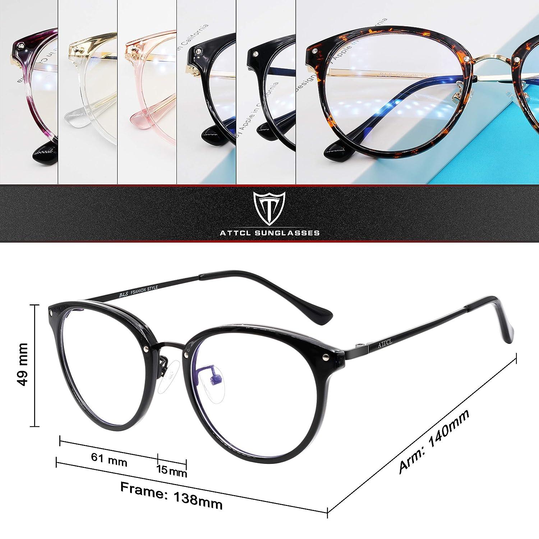 ATTCL Occhiali luce blu bloccanti per il blocco della cefalea UV Anti Eyestrain Occhiali Uomo Donna leggero