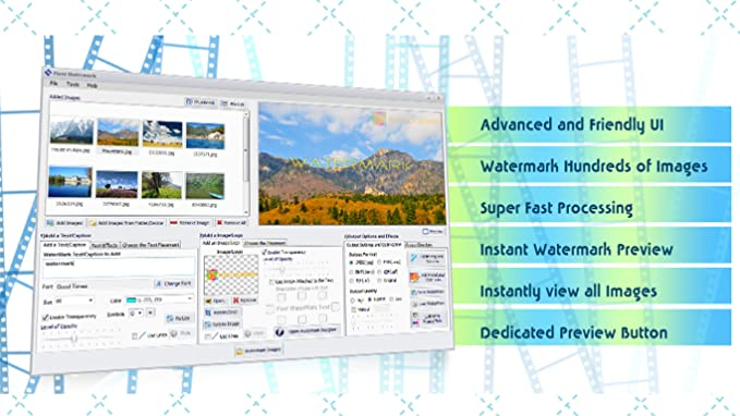 Photo Watermark Software to Watermark and Resize 100s of Photos Fast-Mass  Watermark [Download]