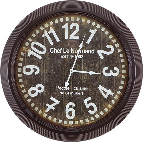 Yosemite Home Decor Circular Iron Wall Clock