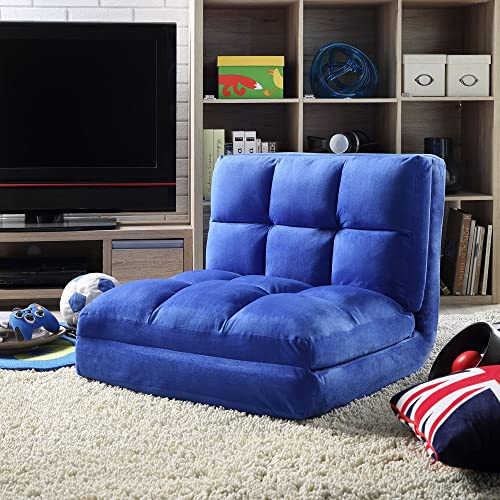 Loungie Micro-Suede 5-Position Adjustable Convertible Flip Chair