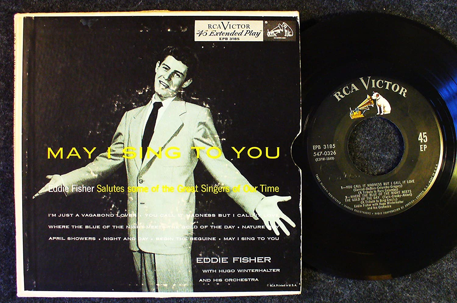 Image for May I Sing To You; Eddie Fisher Salutes Some of the Great Singers of Our Time; 2 record set w/ picture sleeve