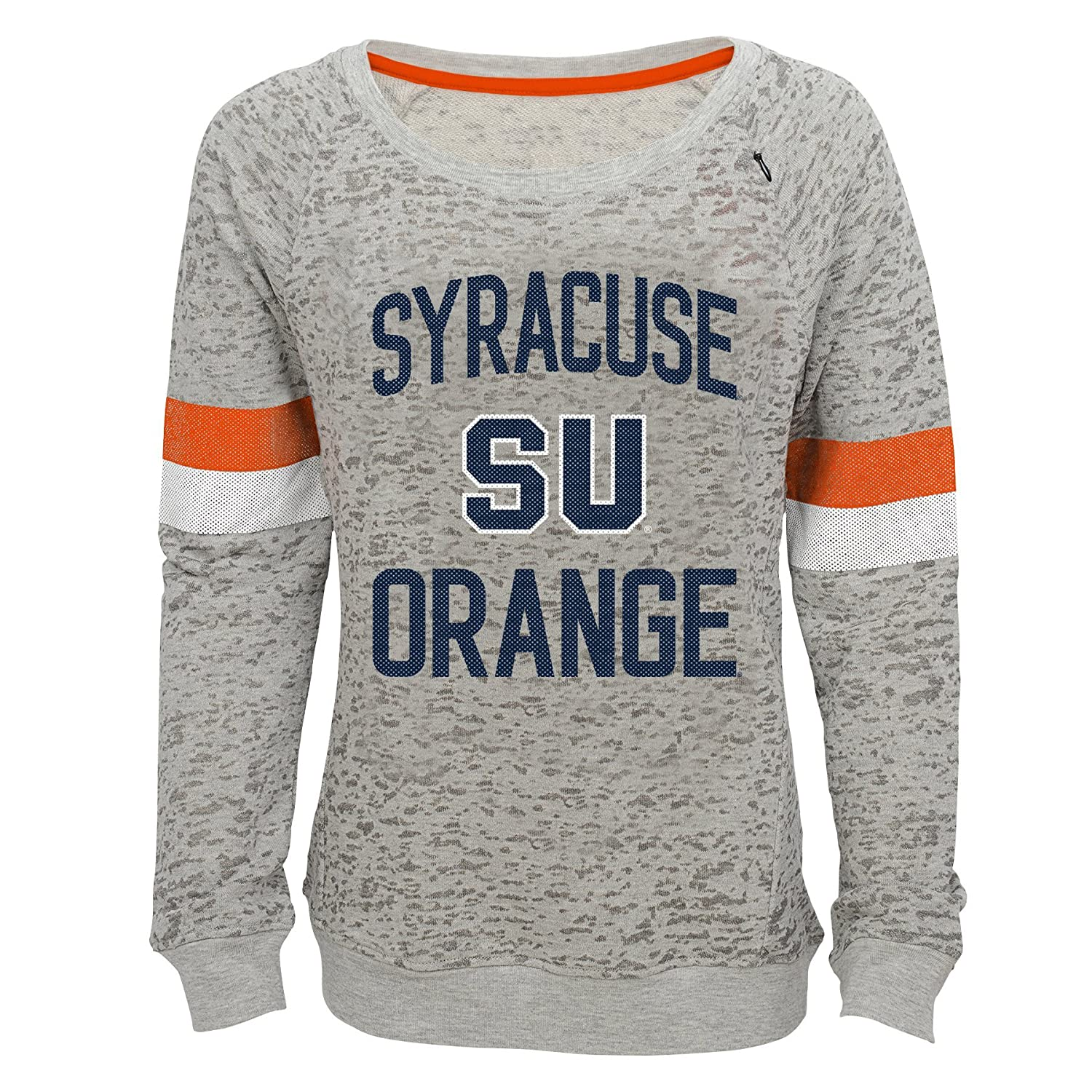 NCAA by Outerstuff NCAA Syracuse Orange Youth Girls My City Boat Neck Pullover Heather Grey 10-12 Youth Medium