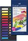 Faber-Castel FC128224 Creative Studio Soft Pastel Crayons (24 Pack), Assorted