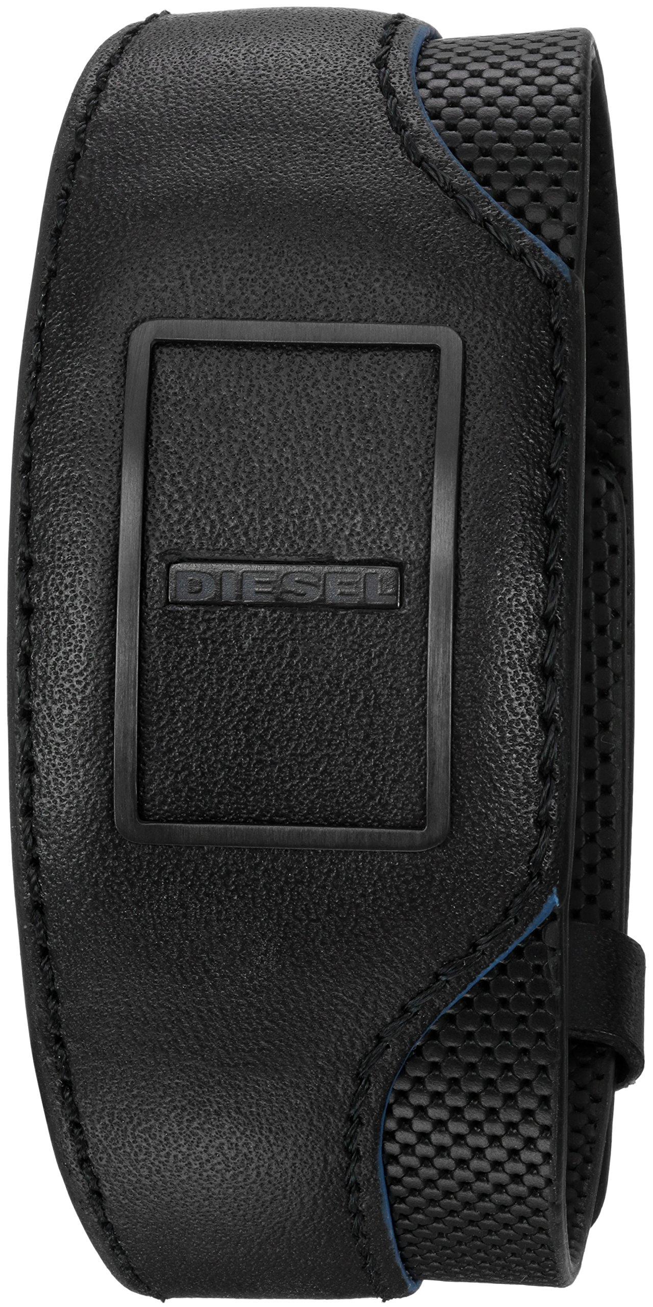 Diesel on Track Black Tracker Cuff Bracelet